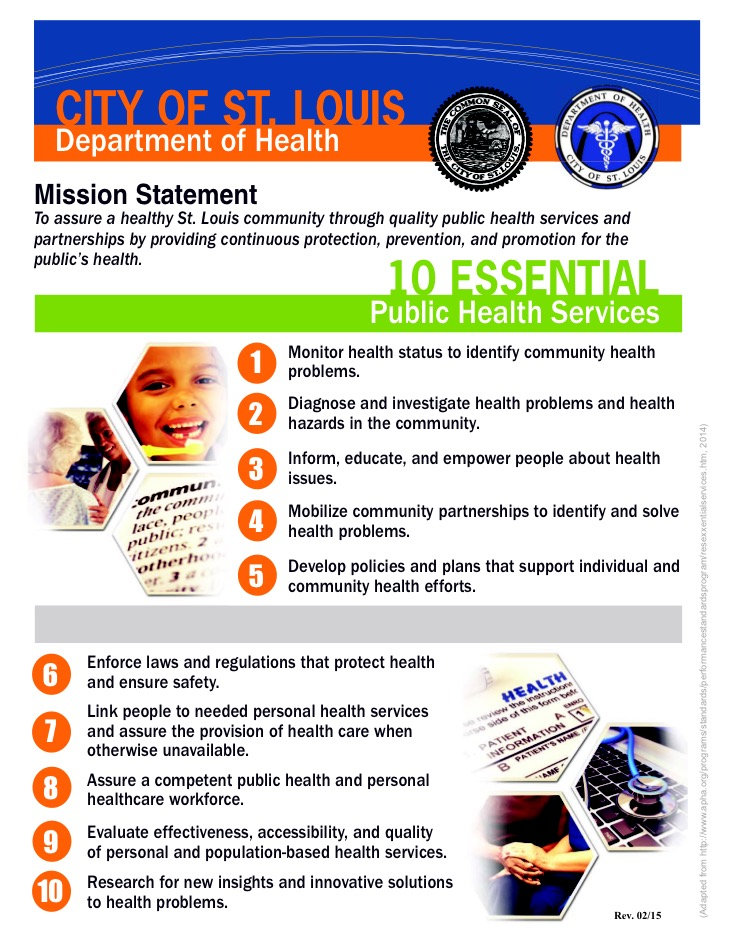 DOH Mission Statement and 10 Essential Functions of Public Health