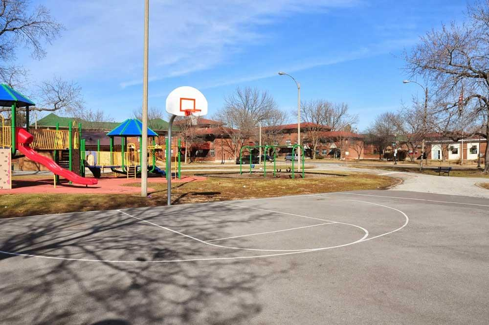 Loretta Hall Park Basketball court