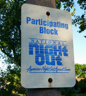 Neighborhood National Night Out Sign